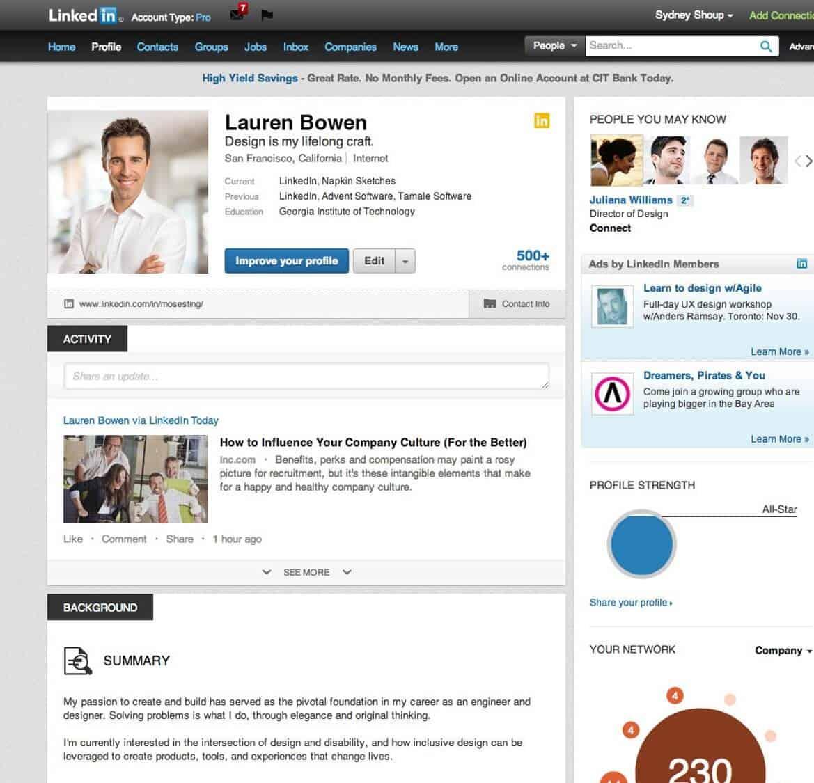 3 LinkedIn Page