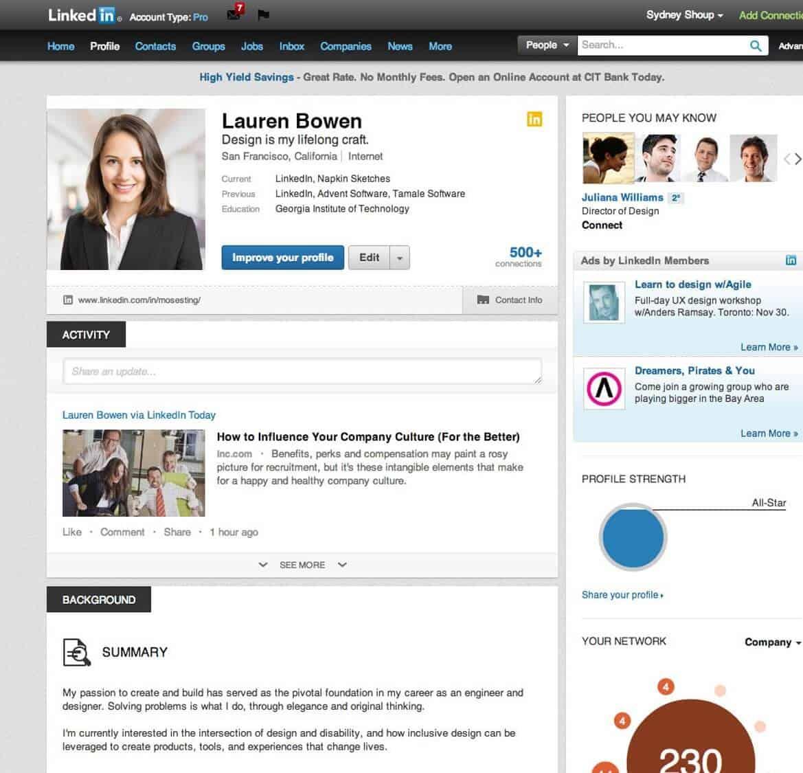 4 LinkedIn Page