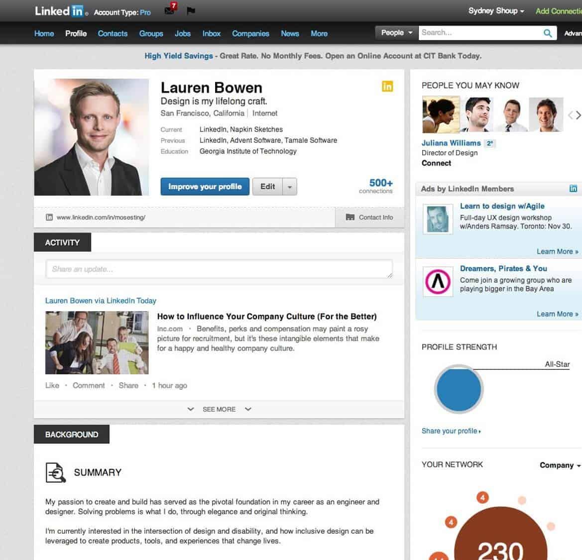 6 LinkedIn Page