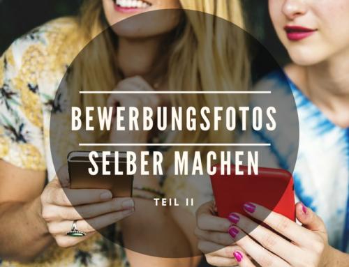 Bewerbungsfotos selber machen mit dem Smartphone? (Teil II)