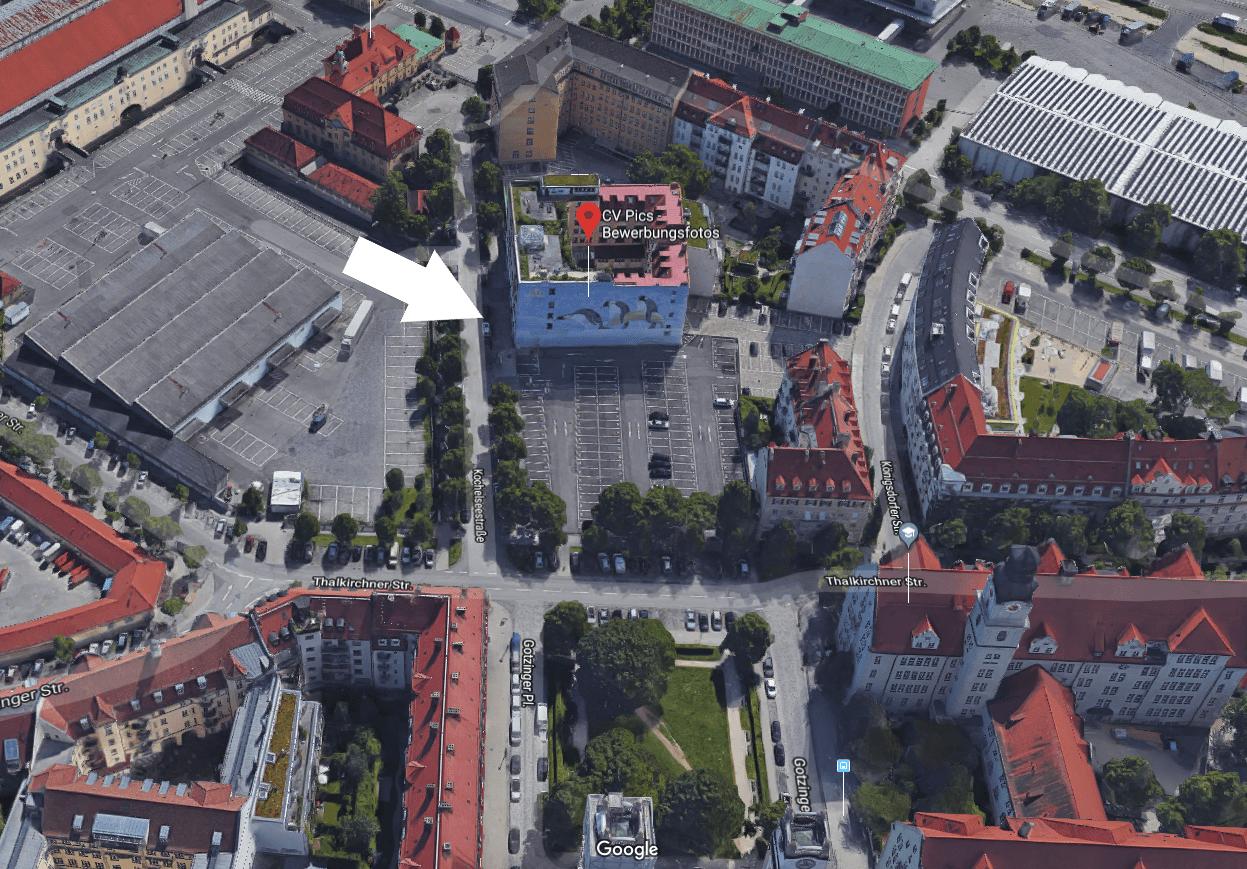 Wegbeschreibung München CV Pics 3D View
